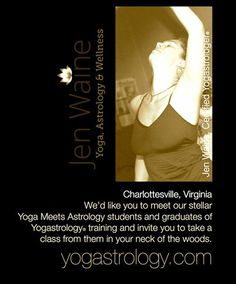 VIRGINIA USA :: jen waine :: certified yogastrologer®
