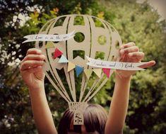 Hot air balloon wedding custom gift idea by PaperPolaroid on Etsy