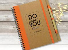 To Do List Notebook Custom Journal Personalised by LooveMyArt