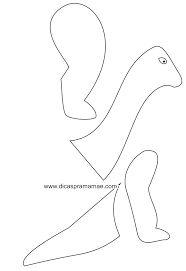 Resultado de imagen para plantillas de dinosaurios para globos