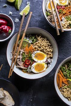 Get the recipe for this Vietnamese Banh Mi Style Slow Cooker Ramen Soup from @hbharvest!