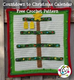 Free crochet pattern: countdown to Christmas calendar. This is for a crochet along and ornament patterns will be added.