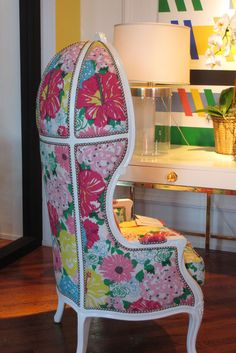 Versailles chair with Lilly print. ALL of The Pelican Girls want this chair!