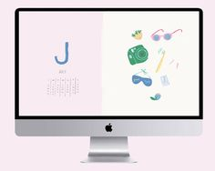 July Desktop Calendar and wallpaper