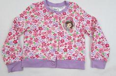 Disney SOPHIA THE FIRST PRINCESS Girls L/S Light Sweatshirt Jacket Sz 4T #Disney…
