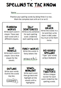I decided to join the Friday Freebie bandwagon! I created a Spelling practice Tic Tac Toe board for my students to use during Tier 2.  Now w...