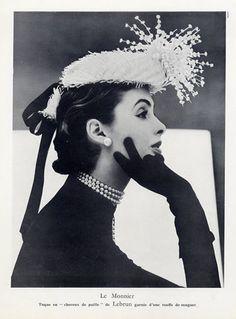 Le Monnier (Millinery) 1946 Fashion Photography Hat, Eugène Rubin
