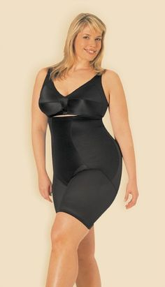 93ee7fd7e8157 Miraclesuit Classic Fuller Figure Black Hi Waist Thigh Slimmer XXLarge    Continue to the product at the image link.