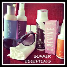 Grab your Summer Hair Care Essentials from your Organic Colour Systems Salon Organic Colour Systems, Dry Shampoo, Summer Hairstyles, Hairdresser, Salons, Photo Editing, Moisturizer, Hair Care, Conditioner