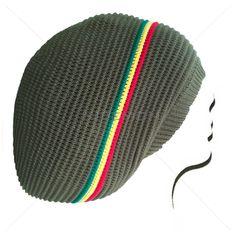 Rasta Dread Dreadlocks Tam Hat Beret 100% Cotton Cap Reggae Marley Jamaica M/L
