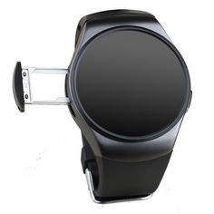 KW18 Full Circular Screen Heart Rate Smart Watch - Black - Free Shipping - DealExtreme
