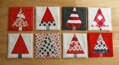 Christmas Tree Coasters: a paper pieced pattern by Olivia Jane Handcrafted