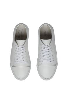 Garment Project Classic Lace White Leather Sneaker Buy Online NZ Free Shipping - The Happy Emporium