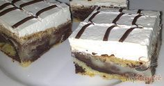 Easy Cake : A cake made of short crust pastry, quark whipped cream filling with vanilla flavor and . Czech Recipes, Shortcrust Pastry, Easy Cake Decorating, Hungarian Recipes, Pastry Cake, Sweet Cakes, Sweet And Salty, No Bake Desserts, No Bake Cake
