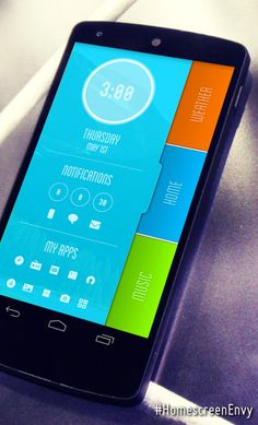 Android Theme, Android Ui, App Ui, Ui Ux Design, Homescreen, Bright Colors, Menu, How To Get, Phone