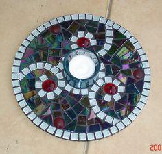 Muni's Mosaics   Tealight & candle holders