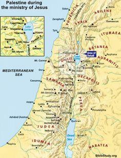 Palestine New Testament map  LAND OF MAPS  Pinterest  Palestine