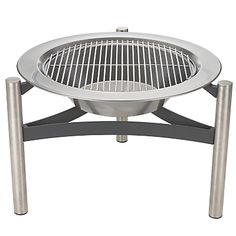 A John Lewis Stainless Steel Firepit