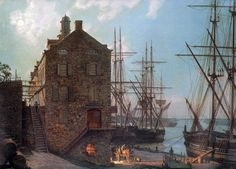 John Stobart Limited Edition Print - Savannah: River Street by Moonlight in 1842 Savannah River Street, Nautical Artwork, Small Yachts, Naval History, Seascape Paintings, Ship Paintings, Most Beautiful Cities, Ship Art, Tall Ships