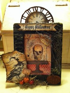 Halloween frame project art atc craft