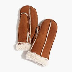 Founded in 1948 by a soldier turned glovemaker, Owen Barry produces heirloom-worthy leather and sheepskin goods proudly manufactured by British craftspeople (including members of the founder's family). Created exclusively for Madewell, these supersoft shearling mittens will keep you warm for winters to come.  <ul><li>Sheepskin shearling.</li><li>Specialist clean.</li><li>Made in the United Kingdom.</li></ul>