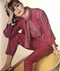 Jean Shrimpton in Vogue December 1964 photographed by Henry Clarke (Thanks to Jane Davis)