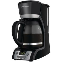 Black & Decker 12-cup Programmable Coffee Maker With Quicktouch Programming (black & Stainless)