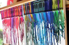 Cien pies con tacones: Arte con ceras de colores!