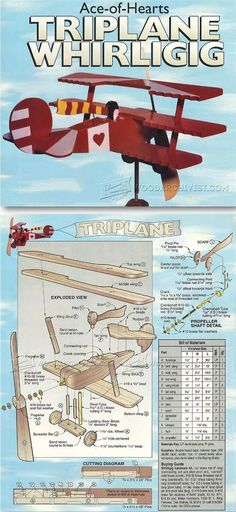 Triplane - Whirligig Plans - Outdoor Plans and Projects | WoodArchivist.com | Woodworking Shop | Pinterest