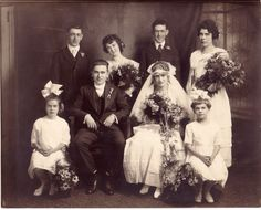 Wedding of Francis Joseph Woods (1891-1972) aka Frank Woods; and Margerite Jensen (1892-1986) aka Daisy Jensen in 1918 in Chicago, Cook Coun...