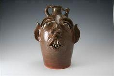 Joe Reinhardt Pottery Rare Devil Face Jug 1993