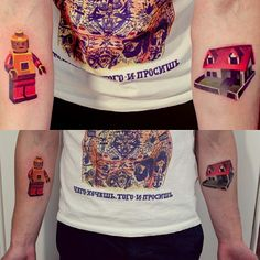 #tattoo #couple #lego #legoman