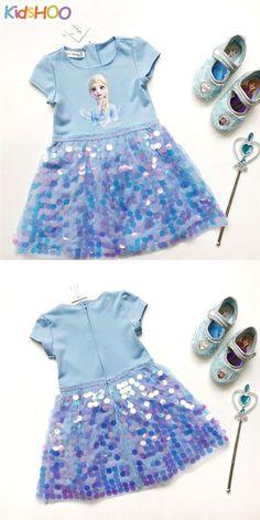 Toddler Girls Frozen Elsa Sequins Princess Dress Dresses Kids Girl, Tutus For Girls, Cute Dresses, Summer Dresses, Toddler Girls, Kids Girls, Envelope Art, Girl Tutu, Elsa Frozen
