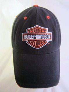 Harley Davidson Ball Cap Classic Bar & Shield Baseball Hat Velcro Strapback  #HarleyDavidson #livetoride #motorcycles #harleyriders