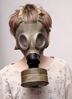 Does Your Bathroom Stink? Don't Buy Air Freshener. Change Your Diet Gas Mask Art, Masks Art, Gas Masks, Steampunk, Respirator Mask, Orange Art, Natural Cleaners, Post Apocalypse, Mask Design