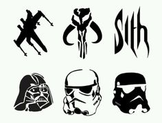 Art Star Wars Pumpkin Carving Stencils - Sith, Darth Vader, Stormtrooper, Clonetrooper i-star-wars Star Wars Halloween, Holidays Halloween, Halloween Pumpkins, Halloween Crafts, Halloween Prop, Halloween Witches, Halloween Quotes, Happy Halloween, Halloween Decorations