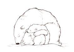 three polar bears by theumbrella.deviantart.com