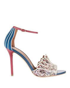 MALONE SOULIERS Minnie Splatter Paint Snakeskin Sandals. #malonesouliers #shoes #sandals