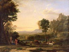 Pastoral Landscape, 1645 (oil on canvas)