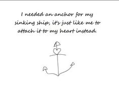 """""""I needed an anchor for my sinking ship"""" Thankfully- Bayside ❤"""