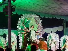 Blend of tradition and modernity. Durga pooja in Bangalore