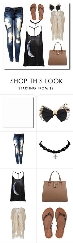 """""""Sun and Moon"""" by ry-luve ❤ liked on Polyvore featuring Dolce&Gabbana, Vero Moda and Aéropostale"""