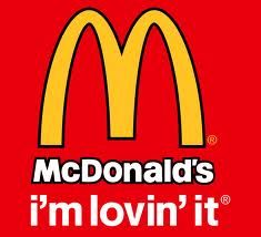 McDonald& i& lovin& it. Black-outlined version with Golden Arches, wordmark and slogan. Marketing Slogans, Advertising Slogans, Richard And Maurice Mcdonald, Crazy Burger, Steak Breakfast, Fast Food Chains, Biscuits And Gravy, Fast Food Restaurant, Big Mac