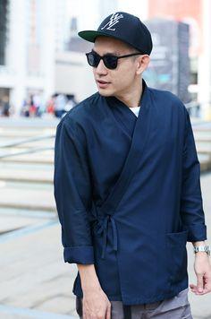 Eugene Tong in a LOUIS VUITTON f/w 2012 kimono jacket