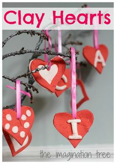 Make these clay Valentine's to hand out at school with your child. From Imagination Tree.