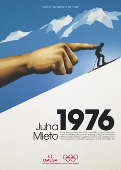 "Official Timekeeper For Winter Olympics 2006: ""1976 JUHA MIETO"" Print Ad  by 180 Amsterdam"
