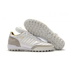 the latest 981bc 2a15a Chaussure de foot Adidas Mundial Team Modern Craft Synthétique pour Homme  Blanche Gris soldes