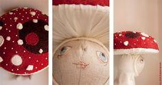 Cute mushroom doll