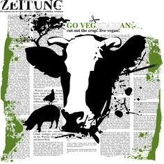 Die Kuh - Ein Aufruf diese großen treuäugigen Wesen nicht nur zu essen. Go Veg(etari)an!