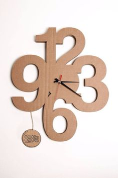 Why this is the cutest  cardboard clock ive ever seen.
